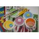 etiquette autocollant design simple carre petit format peinture