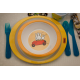 etiquette autocollant design simple rectangle petit format assiette bebe