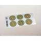 etiquette autocollant design retro ronde grand format planche vert