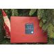 etiquette de nouvel an enveloppe rouge bleu
