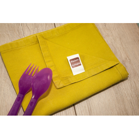 etiquette thermocollant design simple carre petit format maison serviette de table