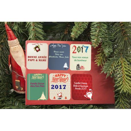 etiquette de nouvel an tous modeles enveloppe