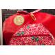 etiquette autocollant design vintage ronde grand format sac a gouter