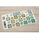 etiquette autocollant design simple carre petit format allergie planche