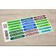 etiquette autocollant design simple rectangle moyen format senior planche