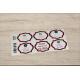 etiquette autocollant design art deco base rectangle moyen format planche grenat