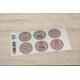 etiquette autocollant design retro ronde grand format planche violet
