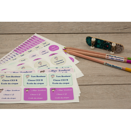 Pack autocollants affaires enfants adultes