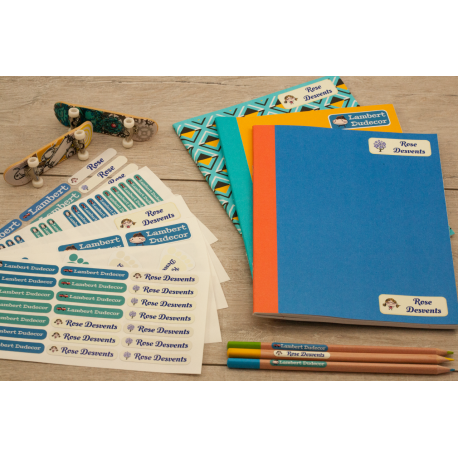 Pack ecole marquer les fournitures scolaires cahiers crayons