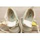 Pack naissance etiquette autocollante chaussure
